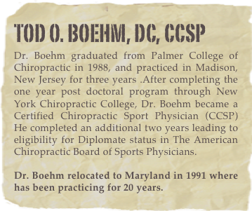tod o. boehm, dc, CCSP